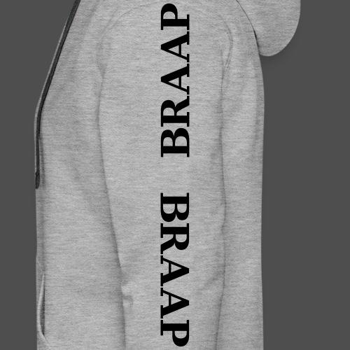 braap braap 0BR04 BL - Bluza męska Premium z kapturem