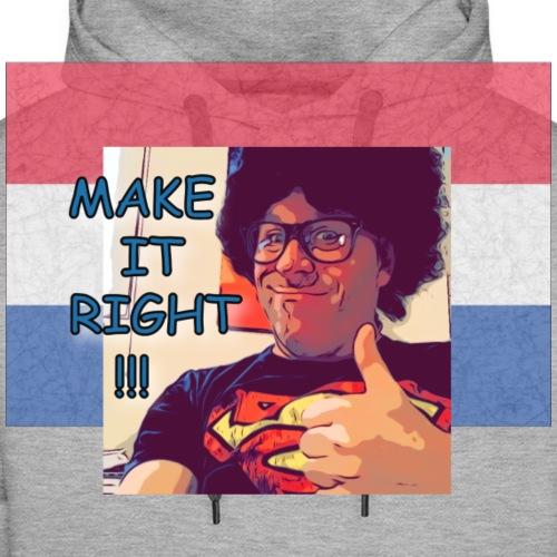 Fred - Make It Right Netherlands Flag - Männer Premium Hoodie