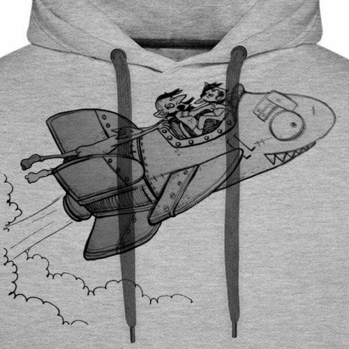 Razzo goblin - Felpa con cappuccio premium da uomo
