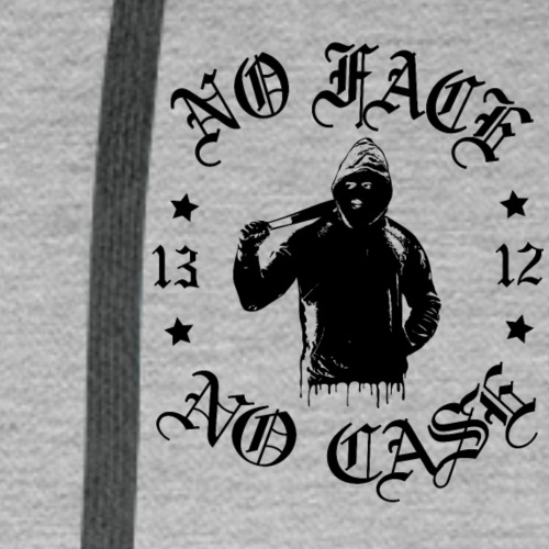 No Face, No Case - pieni printti - Miesten premium-huppari