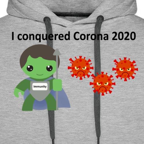 Conquered Corona - Herre Premium hættetrøje