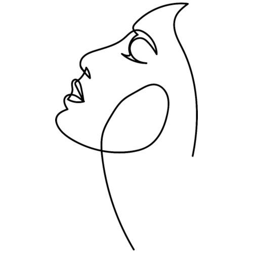 Logo Visage au Trait - Sweat-shirt à capuche Premium pour hommes