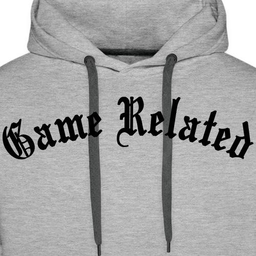 Game Related - musta printti - Miesten premium-huppari