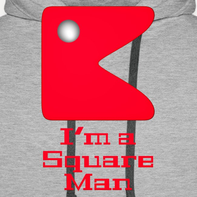 Square man red