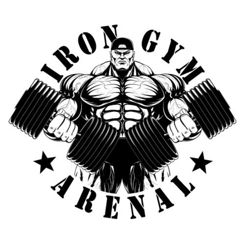muscle man black - Sudadera con capucha premium para hombre