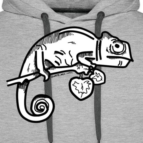 camaleonte - Felpa con cappuccio premium da uomo