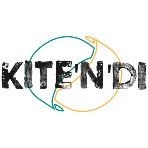 Front Kitesurf Passion - Felpa con cappuccio premium da uomo