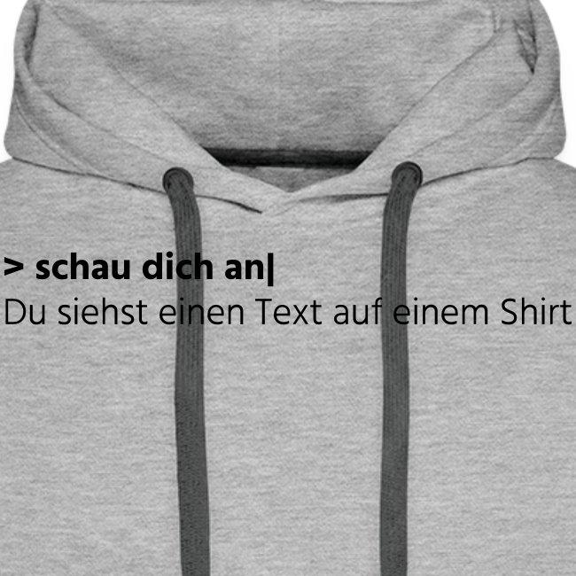 Text auf einem Shirt - grau