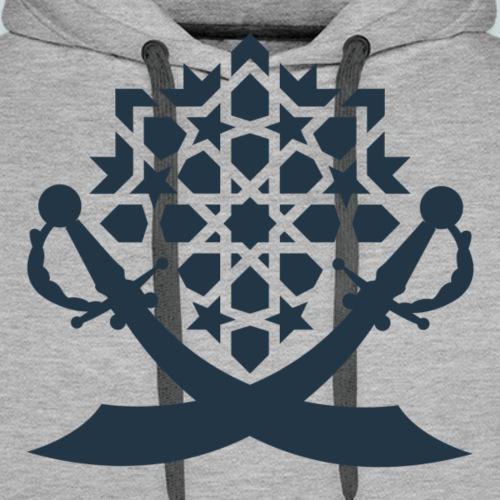 STRICT BLUE EMBLEMA - Sudadera con capucha premium para hombre