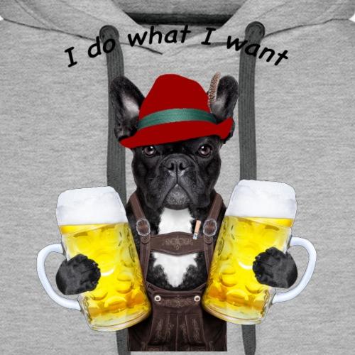 FrenchBulldog Barman - Sweat-shirt à capuche Premium pour hommes