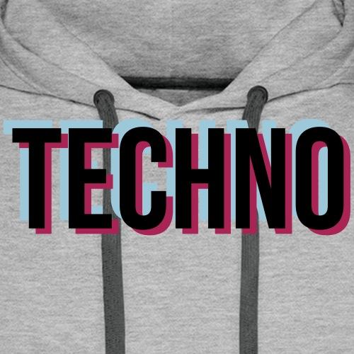Trippy Techno - Männer Premium Hoodie
