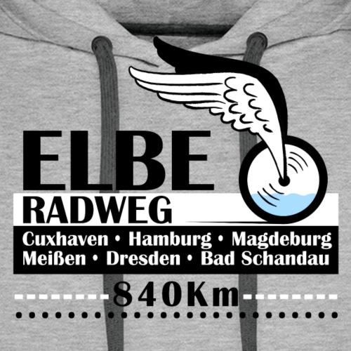 Elbe Radweg - Männer Premium Hoodie