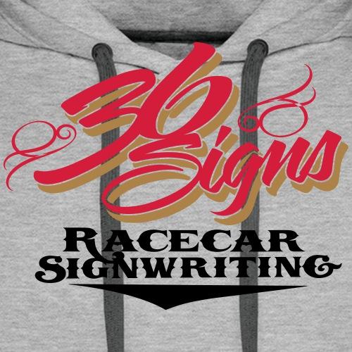 36signs Racecar Signwriting - Men's Premium Hoodie