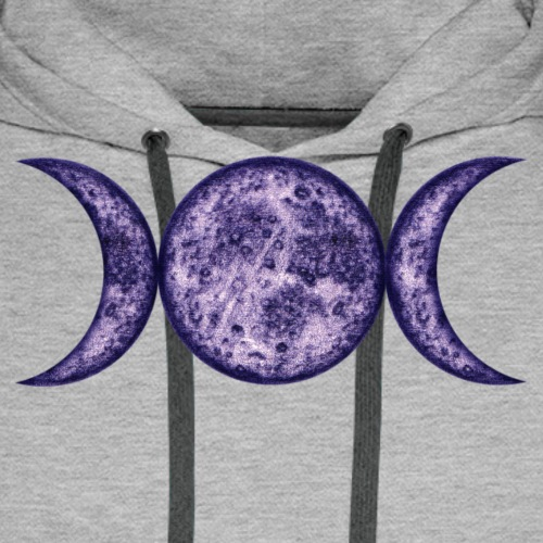 Mondphasen-purple-wicca - Männer Premium Hoodie