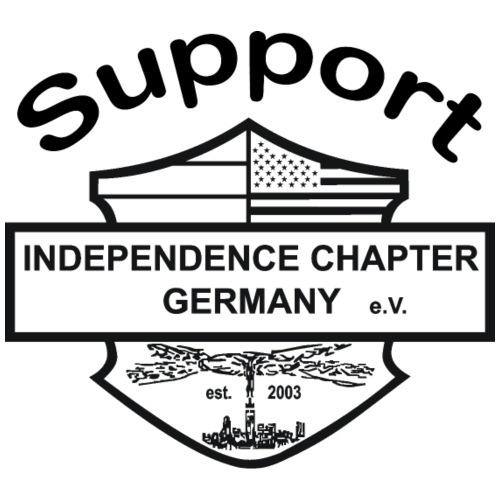 Support Indis schwarz - Männer Premium Hoodie