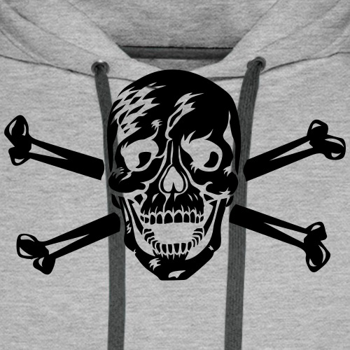 Totenkopf / Skull 1c Halloween Vampir - Männer Premium Hoodie