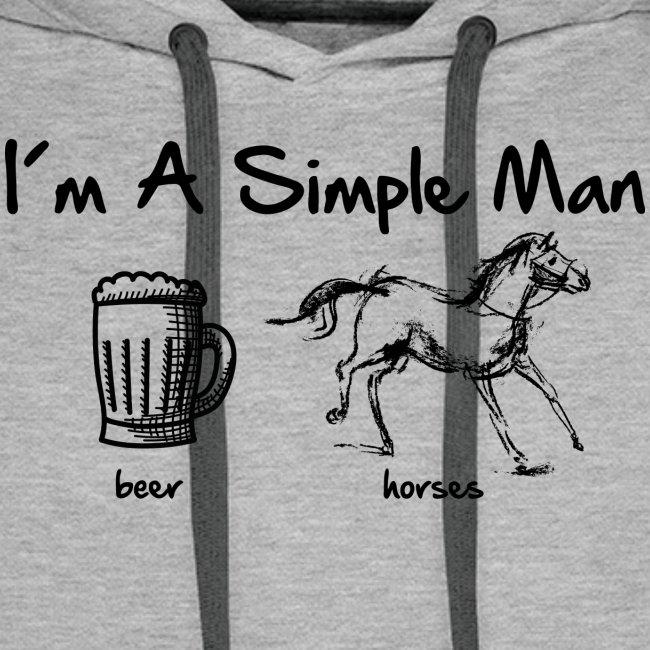 Vorschau: simple man pferd - Männer Premium Hoodie