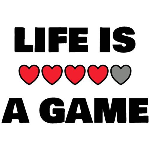 life is a game, black print - Premiumluvtröja herr