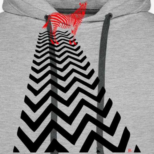 Zebra Crossing - Mannen Premium hoodie