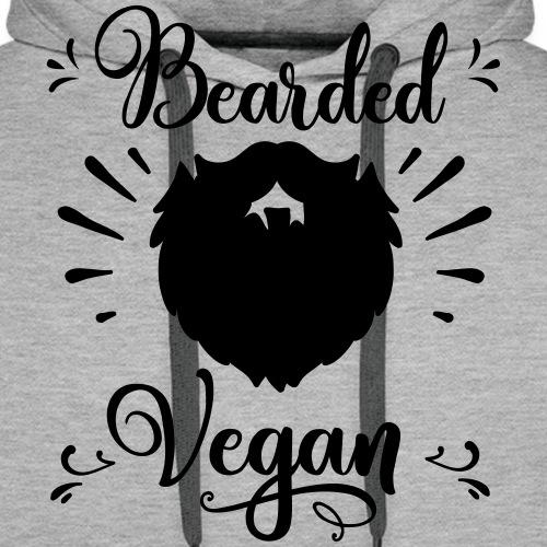 bearded_vegan - Männer Premium Hoodie