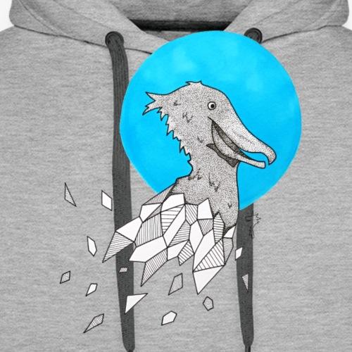 Bec en sabot (fond bleu) - Sweat-shirt à capuche Premium pour hommes