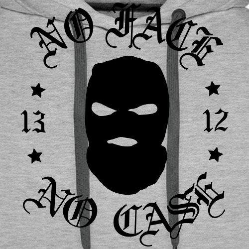 No Face, No Case - Skimask - musta printti - Miesten premium-huppari