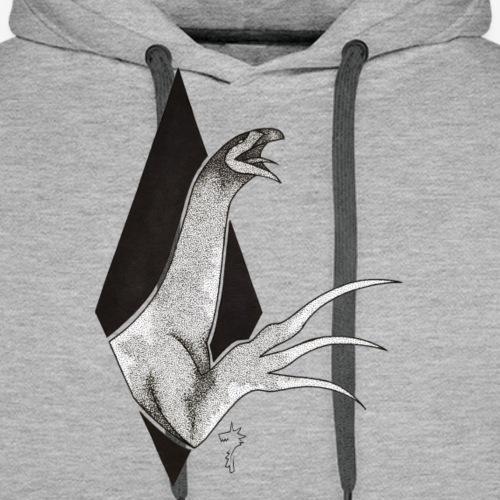 Therizinosaurus - Sweat-shirt à capuche Premium pour hommes