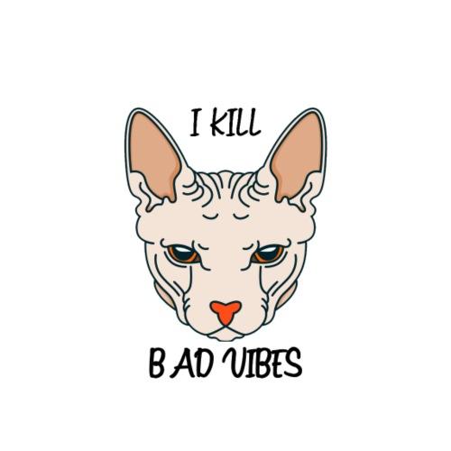 I Kill Bad Vibes - Sudadera con capucha premium para hombre