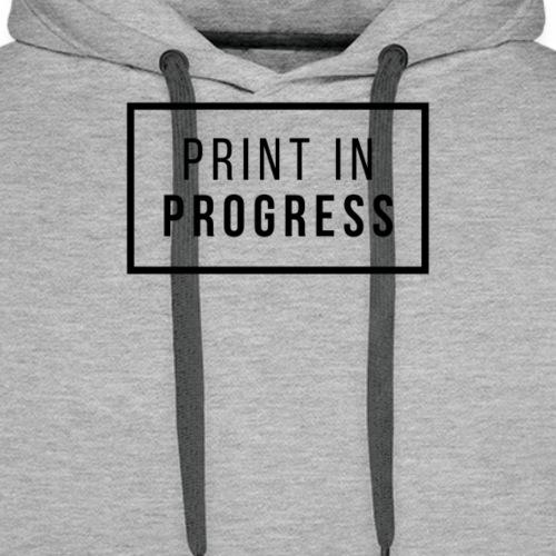 Print in Progress - Felpa con cappuccio premium da uomo