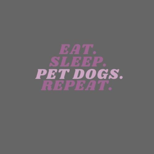 Eat. Sleep. Pet dogs. Repeat. Pink - Premium hettegenser for menn