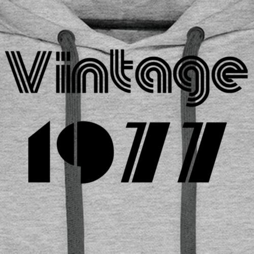1977 - Sweat-shirt à capuche Premium pour hommes