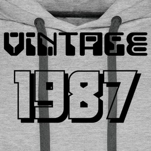 1987 - Sweat-shirt à capuche Premium pour hommes