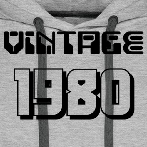 1980 - Sweat-shirt à capuche Premium pour hommes