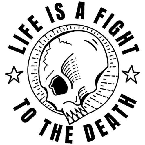 life is a fight, black print - Premiumluvtröja herr