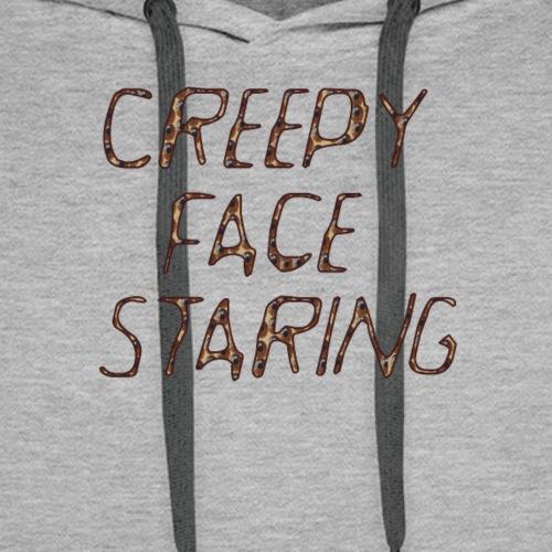 Creepy face staring - Felpa con cappuccio premium da uomo
