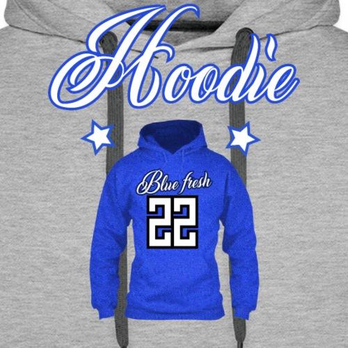 Hoodie 22 blue fresh - Mannen Premium hoodie