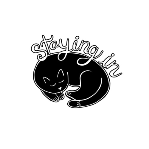 Cat staying in - Sudadera con capucha premium para hombre