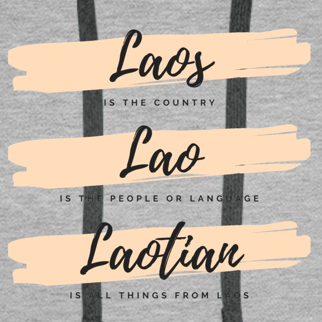 Meaning of the word Laos, Lao and Laotian