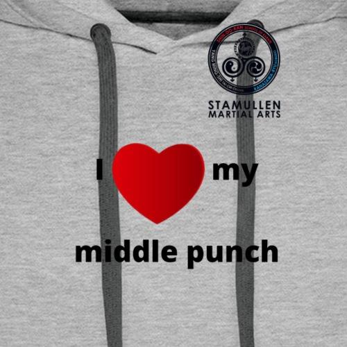 Middle Punch - Men's Premium Hoodie