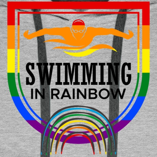 Swimming in rainbow - Männer Premium Hoodie