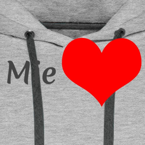 Mie sydän - Miesten premium-huppari