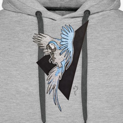 Ara bleu - Sweat-shirt à capuche Premium pour hommes