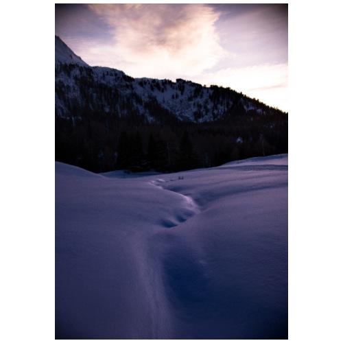 snow path - Felpa con cappuccio premium da uomo