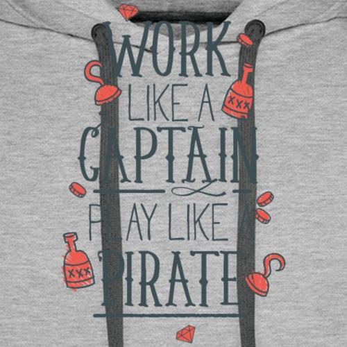 Work like a Captain - Männer Premium Hoodie