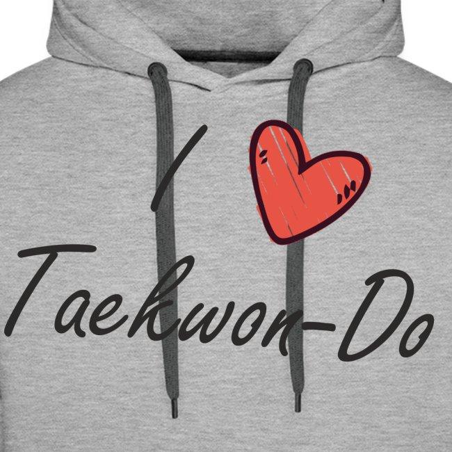 I love taekwondo letras negras