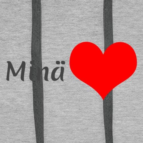Minä sydän - Miesten premium-huppari