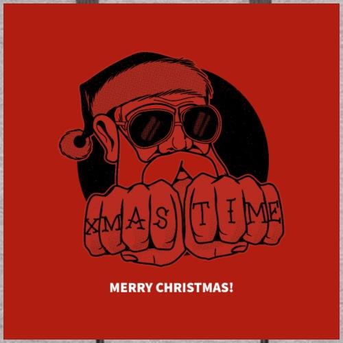 Kerstmis kerstman mondkapje 2 lagen, herbruikbaar
