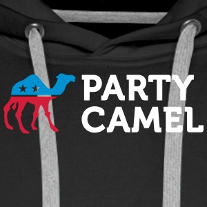 Political Party Animals: Camel - Men's Premium Hoodie