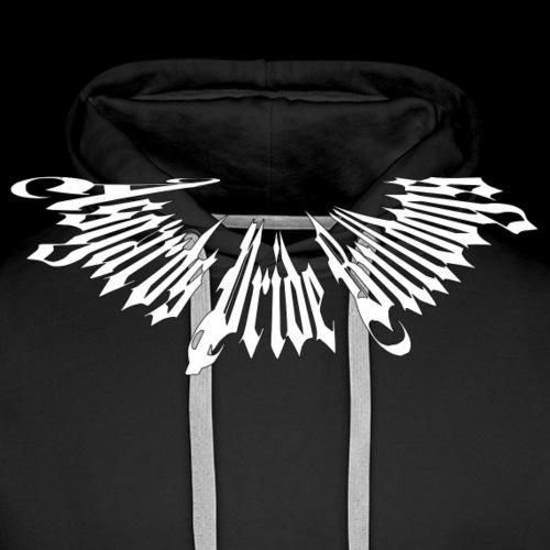 Stachelhalsband Weiss - Männer Premium Hoodie