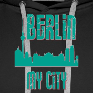 Berlin MY CITY - Sweat-shirt à capuche Premium pour hommes